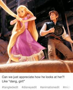 Nice, love Eugene and Rapunzel Rapunzel And Eugene, Tangled Rapunzel, Disney Tangled, Disney Magic, Disney Art, Tangled Movie, Tangled Series, Disney Wiki, Disney Memes