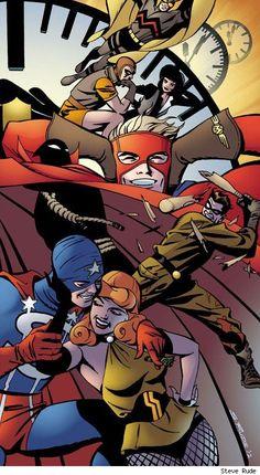 Before Watchmen: Minutemen Issue # 1 (DC Comics) Bruce Timm, Batman And Superman, Marvel Dc Comics, Comic Movies, Comic Books Art, Book Art, Fanart, Classic Comics, Graphic Novels