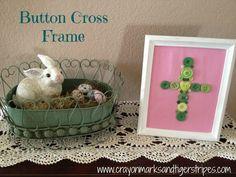 Button Cross Frame
