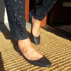 It is a beautiful sunset tonight and these #midnightblue #JimmyChoo #finlay #glittered #ballerina #flats are shining in the sunset. Size 38. They are BRAND NEW with no box.ORIGINAL RETAIL PRICE: $517 OUR PRICE: $224.99-10%