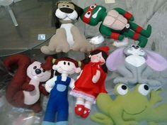 bonecos variados do Ateliê