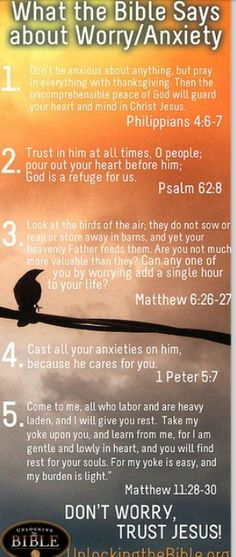 Worry/Anxiety bible verses!!