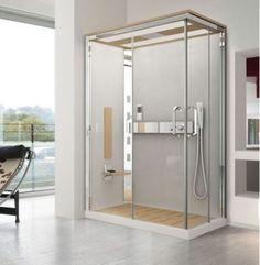cabines de douche crystal de novellini syst me de massage dorsal et fonction hammam 90x90cm. Black Bedroom Furniture Sets. Home Design Ideas