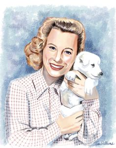 Beautifuld painting of June Allyson