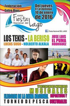7 al 10 Enero Federacion - Fiesta del Lago 2016   Region Litoral