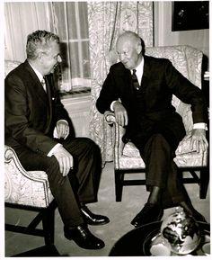 Prime Minister John Diefenbaker with President Dwight D. Eisenhower Ottawa…