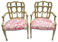 Prince of Wales Feather Chairs, Pair | Blowout Sale   | One Kings Lane