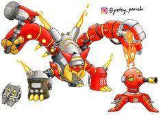 Here's Volcanion as Torbjorn. Soldier 76 Pokemon X Overwatch: Volcanion X Torbjorn Pokemon Fan Art, Cool Pokemon, Funny Pokemon Fusion, Overwatch Pokemon, Pokemon Breeds, Robot Concept Art, Fandom Crossover, Cartoon Crossovers, Cool Eyes