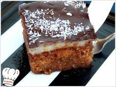 Προκειται για ενα γευστικοτατο κεικ καρυδας με σοκολατα,ελαφρα σιροπιασμενο οσο πρεπει δηλαδη,με γευστικοτατη και μυρωδατη κρεμα καρυδας και επικαλυψη γκαναζ σοκολατας με δυο ειδων κουβερτουρες.Ενα πραγματικα ιδιαιτερο και εντυπωσιακο γλυκο. <strong>Απολαυστε το!!!</strong>