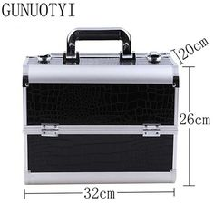 GUNUOYI Hot Sales Women Cosmetic Case PU Leather Professional Aluminum Makeup Cases Delicate Strong Cosmetic Bag Case GY-02 #clothing,#shoes,#jewelry,#women,#men,#hats,#watches,#belts,#fashion,#style