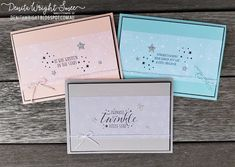 Denita Wright | Stamping Sunday Blog Hop - Little Twinkle | Stampin' Up! Kids Cards, Baby Cards, Card Tags, I Card, Thing 1, Big Shot, Little Star, Stargazing, Twinkle Twinkle