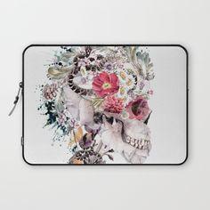 Momento Mori X Laptop Sleeve #skull #society6 #collage #abstract #snake #animals #digitalart