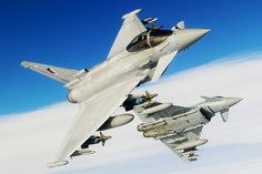 RAF Eurofighter Typhoons by Official Eurofighter Typhoon, via Flickr