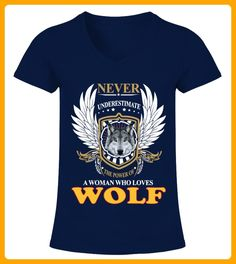 A Woman Who Loves Wolf - Wolf shirts (*Partner-Link)
