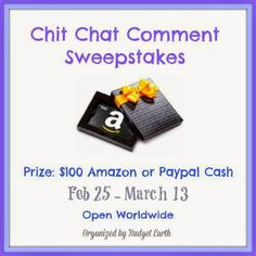 Positive Kismet : ENTER: Chit Chat Comment Sweepstakes #sweepstakes #contest #giveaway