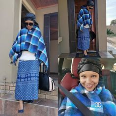 Xhosa Attire, African Attire, African Dress, African Traditional Dresses, Traditional Outfits, Traditional Wedding, Winter Fashion Outfits, Women's Fashion Dresses, Shweshwe Dresses