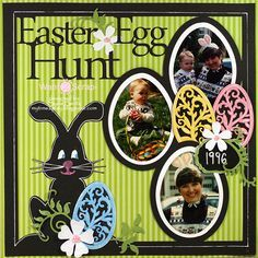 Easter Baby Scrapbook Pages, Kids Scrapbook, Scrapbook Cards, Scrapbook Journal, Disney Scrapbook, Scrapbook Sketches, Scrapbook Page Layouts, Scrapbook Paper Crafts, Scrapbooking Ideas