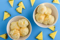 When you want to cool off on a hot day, or you want a healthy dessert option that is light and refreshing, this Pineapple Sorbet is a perfect choice. The fresh ripe pineapple is so full of flavour… Healthy Dessert Options, Healthy Sweets, Healthy Deserts, Kayla Itsines, Pineapple Sorbet, Pineapple Coconut, Fresh Ginger, Coconut Water, Sweets