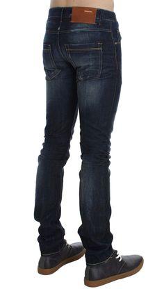 ACHT Blue Wash Cotton Slim Fit Jeans #MensFashionOver40