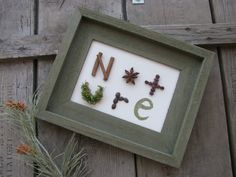 Nature Wall Decor made from spices and by SpiceGroveDesigns, $36.00