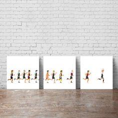 TRIATHLON ART. Marathon running wall art by KeepMakingSmiles