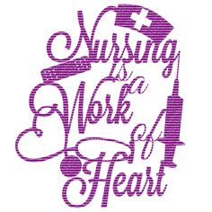 Nursing is a Work of Heart SVG by JustinasaurCreations on Etsy nurse svgs nursing graduation gifts wall decals  (svg svgs cricut cutting files silhouette cameo files to cut etsy cutting files)