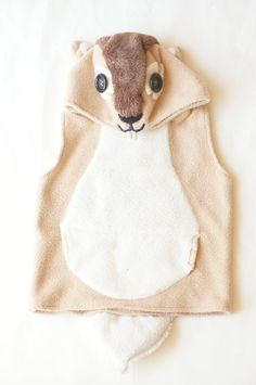 Chipmunk Costume / Chipmunk Hoodie Vest by FlyingFishSewing, $65.00