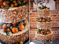 naked citrus and orange cakes fall wedding