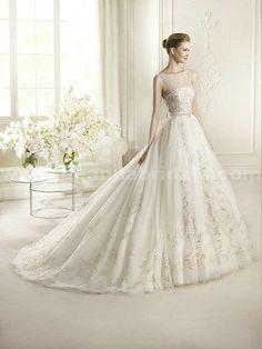 San Patrick Glamour 2013 - ARTICO Strapless A-Line Wedding Dress with chapel train