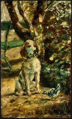 Henri de Toulouse-Lautrec  The Artist's Dog Flèche, c. 1881  Ailsa Mellon Bruce Collection  1970.17.84