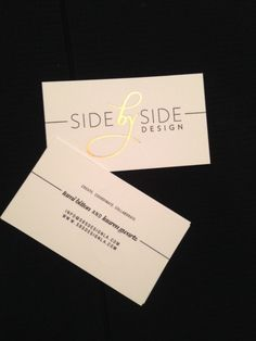 Side by Side Design business cards
