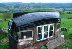 A boat hull as a roof?  Never thought of that.  We have a 30 foot boat in the back yard...could it be my the roof for my new studio?