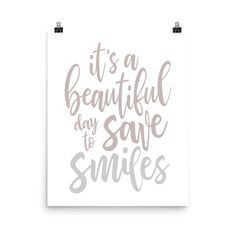 It's a beautiful day to save smiles poster, dentistry poster, dentist office decor, dentist gift, dentist graduation gifts – Office Design 2020 Dentist Quotes, Dentist Humor, Dental Office Decor, Dental Office Design, Humor Mexicano, Dental Posters, Coffee Quotes Funny, Nursing School Humor, Feng Shui