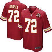 Nike Glenn Dorsey Kansas City Chiefs Youth Game Jersey - Red