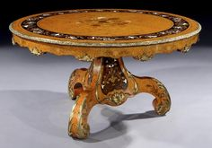 Attributed to EDWARD HOLMES BALDOCK (1777-1845) An Antique Exhibition Quality Centre Table (c. 1840 England)