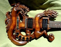 Dragon Hand Carved Electric Guitar
