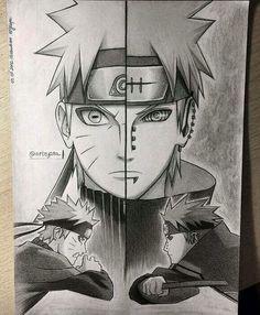 Awesome Naruto and pain hand drawing By Arteyata #minato #naruto #anime #cosplayclass