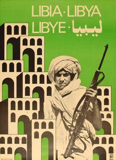Libya Cuban Poster by Alberto Blanco | OSPAAAL 1983