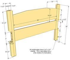 Twin size bed plan Bill of materials The bill of materials below assumes all the lumber is good. You should buy extra lumber to be able to leave out pieces with defects in them. In general, its bes...
