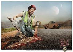 eagle print award roadkill recruitment marketing
