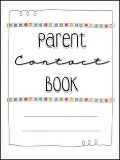Parent Communication Book Printables This is EXACTLY what I have been looking for!!