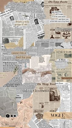 Newspaper Wallpaper, Newspaper Background, Background Vintage, Newspaper Collage, Iphone Wallpaper Tumblr Aesthetic, Aesthetic Pastel Wallpaper, Aesthetic Backgrounds, Aesthetic Wallpapers, Cute Wallpapers