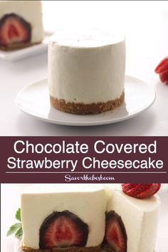 These individual no-bake cheesecakes are beyond awesome! The sweet vanilla cheesecake is smooth, creamy and delicious as it sits on a buttery graham cracker crust. Nutella Cheesecake, No Bake Cheesecake, Strawberry Cheesecake, Mini Cheesecake Recipes, Individual Cheesecakes, Mini Cheesecakes, No Bake Desserts, Dessert Recipes, Mini Desserts