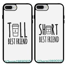 Tall&Short Best Friend BFF Rubber Case For iPhone 6 7 8 X&Samsung Galaxy. phone cases from our store and get up to off. You will not find this rare cases in any other store, so grab this Limited Time Discount Now! Bff Iphone Cases, Bff Cases, Funny Phone Cases, Diy Phone Cases, Matching Phone Cases, Samsung Cases, Best Friend Cases, Friends Phone Case, Best Friends