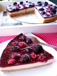 Cheesecake de Amoras e Framboesas Muito Fácil
