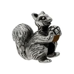 Individuality Beads Sterling Silver Squirrel Bead