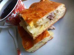 Пирог с картофелем и мясом (мамин рецепт)