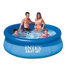 Intex 8ft X 30in Easy Set Pool Set   Intex 8ft X 30in Easy Set Pool Set Make a splash all summer long with the Intex Easy Set, one of the most easy to assemble pools on the market. This pool will make your backyard the place to be all summer as your family can relax and play. A 110-120 volt filter pump is included and is very easy to install- just hook up the hoses and enjoy clean refreshing water. Ready for water in 10 minutes, - simply spread out on level ground, inflate the top ri..