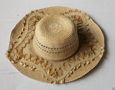 #women hat women straw hat size S (54) natural palm straw made in Guatemala  (020) withing our EBAY store at  http://stores.ebay.com/esquirestore