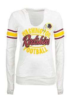 Ladies Redskins Long Sleeve Hooded T-Shirt